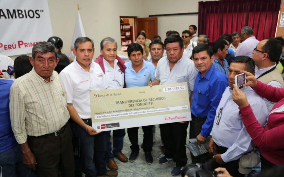 En Piura, MINAGRI inicia etapa de reconstrucción de la infraestructura agraria afectada por El Niño Costero