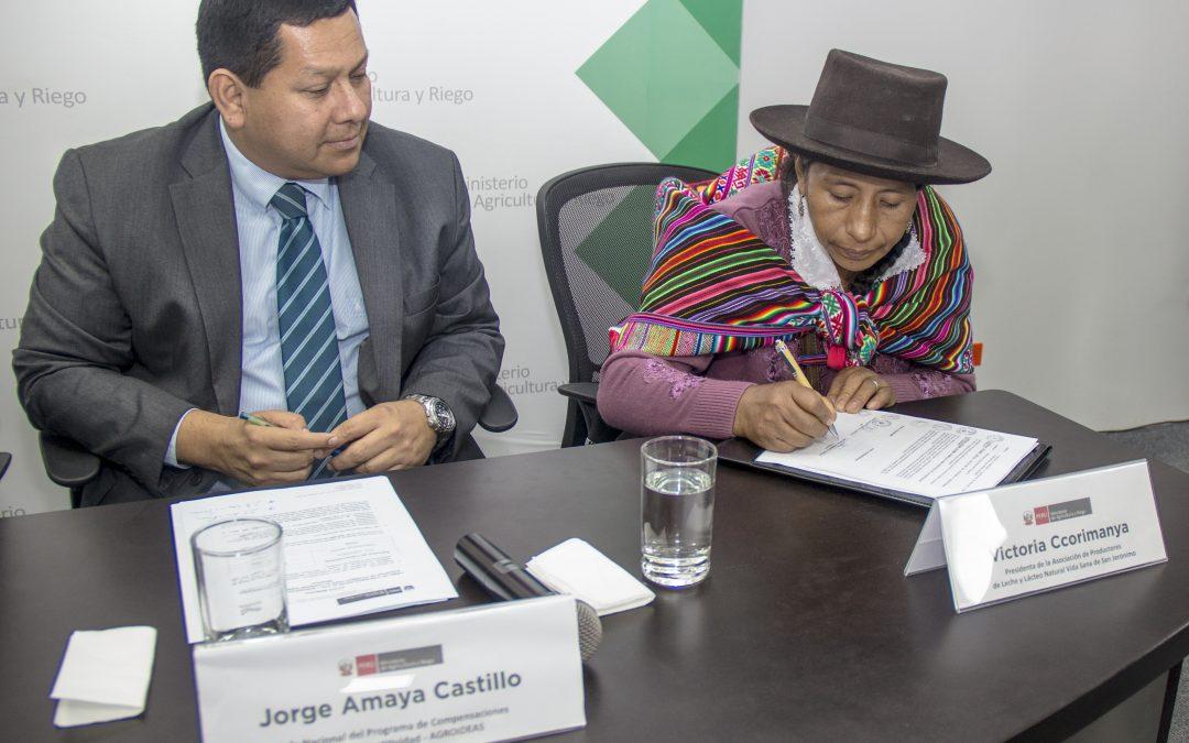MINAGRI cofinanciará Planes de Negocio por más de S/ 2 millones en beneficio de cinco organizaciones agrarias de Apurímac