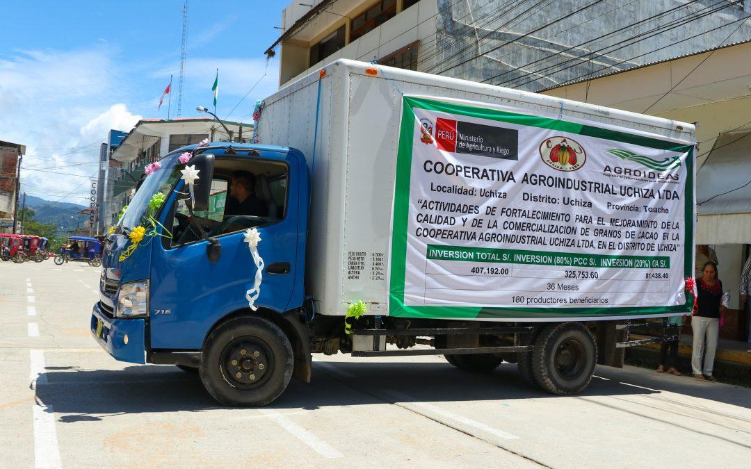 MINAGRI invirtió S/ 1.6 millones en organizaciones agrarias de San Martín