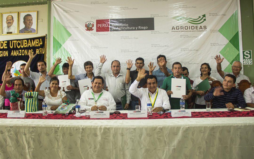MINAGRI: Organizaciones agrarias de Amazonas suscriben convenios por S/7.4 millones para cofinanciamiento de Planes de Negocio