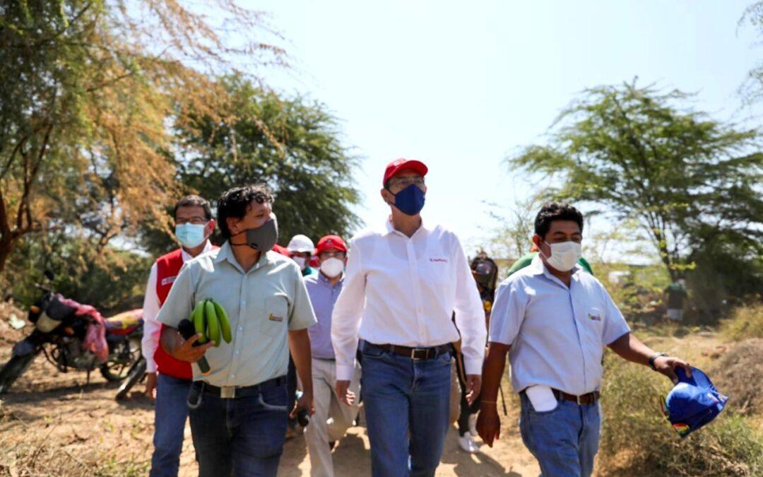 Piura: Presidente Martín Vizcarra supervisó infraestructura de productores de banano orgánico